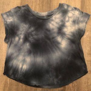 Tie-Dye Blue John Galt cropped T-shirt OS